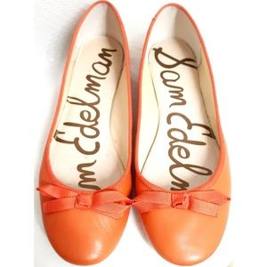 "SAM EDELMAN Orange ""Milly"" Flats"